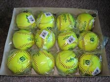 "(12) Rawlings 12"" Babe Ruth Pro Leather Cover Softballs Model Px2Rylbr"