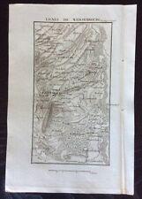 1817 LIGNES WEISSEMBOURG 1793 original map bataille Wissembourg Weißenburg