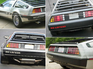 DKM | CHROME REAR INSERS FOR DELOREAN BUMPER LETTERS SET NOT DECAL