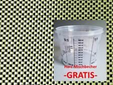 1m² tessuto ibrido 200g/m² aramide, CARBON-KEVLAR, Z-HGH-Plain 200, 1qm-piegati!