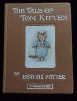 The Tale Of Tom Kitten Beatrix Potter F Warne & Co Circa 1930's