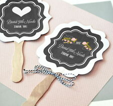 24 Personalized Paddle Fans Chalkboard Rustic Wedding Party Favors Lot Q47011