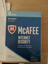 Genuine McAfee Internet Security 1 Year Subscription 10 Devices PCs Macs Phones