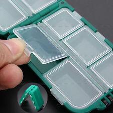 Plastique Pêche cuillère hook Spinner Appât Boîte de rangement Tackle Case 10 compartiments