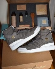 $270 ADIDAS FORUM HI CRAFTED BW1253 Grey/Gold/White Men SZ 9.5 Charles F. Stead