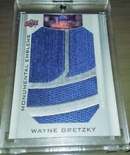 2013 Upper Deck Edmonton Oilers Collection Monumental Emblems - Wayne Gretzky