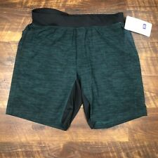 "NWT Lululemon Mens THE Short 9"" Lux Lined Amplified Dark Emerald Black ADPE XL"