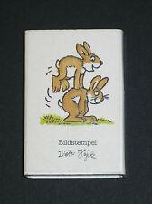 Stempel für Ostern in kleiner Box, Oster-Stempel, zwei Hasen, NEU