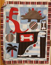 Dinosaurus Dino Friends Quilt Panel Fabric by David Textiles  btp PRICE REDUCED