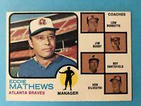 1973 Topps Card #237 Eddie Mathews Atlanta Braves