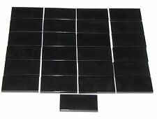LEGO LOT OF 25 NEW BLACK 2 X 4 TILES FLAT SMOOTH PIECES