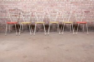 Mid-Century Modern Outdoor Dining Chairs by Reilly Wolff, Set of Six