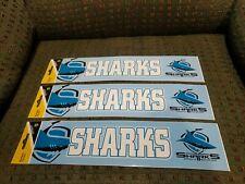3 Cronulla Sutherland Sharks NRL Team Logo Bumper Stickers 305mm x 75mm - Jersey