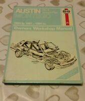 AUSTIN ROVER MG MONTEGO 2.0 1984-1987 HAYNES WORKSHOP MANUAL 1067 USED FREE P&P