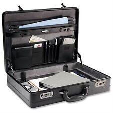 "Samsonite Lawyers Mens Laptop Case Bag Black Leather Attache Briefcase 18"""