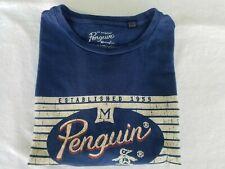 Penguin  Mens T-shirt XL Blue  Short Sleeve Graphic Vintage Look Munsingwear