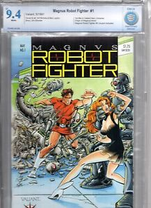 Magnus Robot Fighter #1 (1991) CBCS 9.4! Pre-Unity Valiant! not cgc!