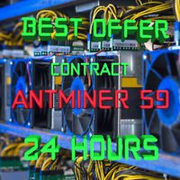24 Hours Mining Contract - 14.5 TH/s antMiner S9 Bitmain Bitcoin BTC Ƀ💲✅⚡️
