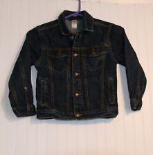 OSHKOSH B'KOSH boy or girls size 7 indigo blue denim jean jacket, MINT