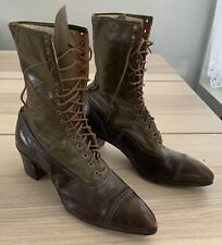 Rare Womens Victorian Leather Lace High Boots Dress Shoes 9�