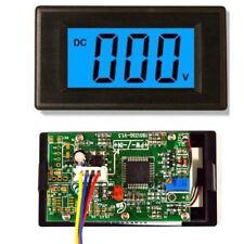"3 1/2"" DC0-199.9mV Blue LCD Digital Volt Panel Meter/Voltmeter - UK seller"