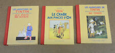 HERGE - TINTIN - 3 MINI FORMAT - SOVIET + CONGO + CRABES AUX PINCES D'OR (BE+)