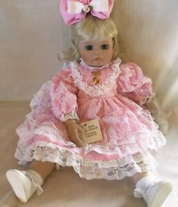 """Marie Osmond LIANA Picture Day Series Porcelain BABY DOLL 24"""" AUTOGRAPHED"""