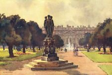 East front from the Long Water, Hampton Court. London. By Ernest Haslehust 1920
