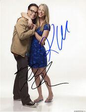REPRINT Cast BIG BANG THEORY 4 Kaley Cuoco John Galecki autograph signed photo