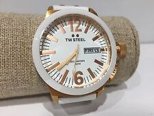 Watch Watch Montre TW STEEL - Quartz - Ceo Canteen - White Leather CE1035