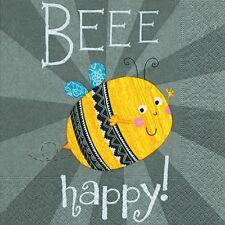 4 Servietten ~ Beee Happy Biene Glück Wünsche Serviettentechnik