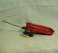 "Vintage Antique old rare toy  LIttle Red Wagon metal 5"" 1930s"