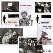 Charlie Chaplin Great Dictator Modern Times 2 Film Cells+2 Booklets+2 Still Sets
