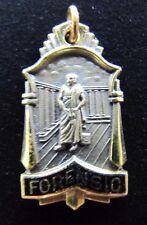 Old FORENSIC Medallion bronze black enamel brass wash ornate medical examiner