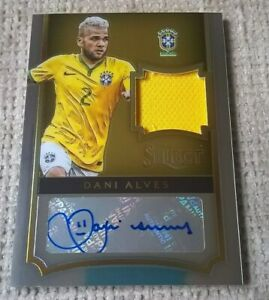 Panini Select Dani Alves auto card 35/39