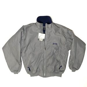 NWT New Vintage Deadstock Patagonia Gray Shelled Synchilla Jacket Men's Medium