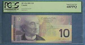 2001 - Canada - $ 10 - BC-63a  - Knight-Thiessen - PCGS New-68 (Superb Gem)