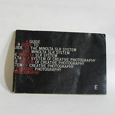 Minolta MD accessory Guide XM SR camera SLR System Brochure List 64 pages
