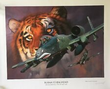 Roy Grinnell Signed Edition Print Burma To Baghdad Aviation Tiger Tactical Wing