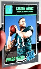 CARSON WENTZ 2016 Donruss Rated Rookie Press Proof 💎 EAGLES GREEN 💎 SP #356 RC