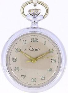 Stowa Taschenuhr Edelstahl Uhr Pocketwatch #005