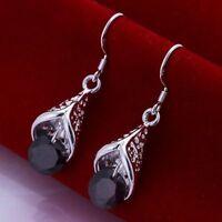 Asamo Ladies Earrings Purple Stone Earrings 925 Sterling Silver Plated O1208