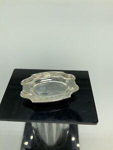 Miniature Artisan Sterling Silver Obadiah Fisher Meat Platter