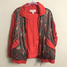 LAVON Vintage Track Suit Jacket Pants Christmas Size Medium Red Green Holiday