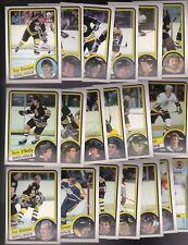 1984 OPC Team SET lot of 19 Boston BRUINS NM/MT o-pee-chee BOURQUE MIDDLETON