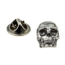 Medieval Skull English Pewter Lapel Pin Badge - Xwtp119