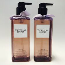 2 Victoria's Secret Nude Coconut Fig Fragrant Hand & Body Cleansing Gel 8.4 oz