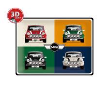 23254 Placa metalica 30x40 mini cooper 4 cars pop art nostalgic art coolvintage
