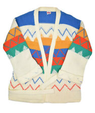 Vintage The Final Touch Cardigan Sweater Womens Open Front Navajo Aztec Acrylic