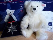 Steiff Swarovski 2005 Ltd Ed Crystal Bear + Christmas Star EAN 668401 New Boxed